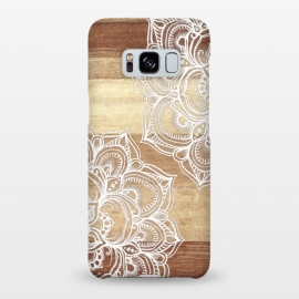 Galaxy S8+  White doodles on blonde wood by Micklyn Le Feuvre ()