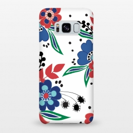 Galaxy S8+  BrightFolk by Dunia Nalu (floral,flowers,flower,nature,folk,bouquet,pattern)