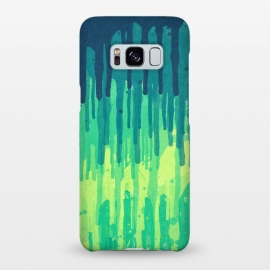 Galaxy S8+  Green Grunge Color Splatter Graffiti Backstreet Wall by Philipp Rietz ()