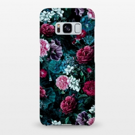 Galaxy S8+  Floral Pattern IV by Riza Peker (Floral,Dark,Print,Pattern,botanical,flowers,RizaPeker)