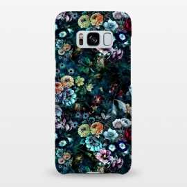 Galaxy S8+  Floral Pattern VIII by Riza Peker (Botanical,Flowers,dark,art,design,RizaPeker)