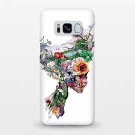 Galaxy S8+  Nature Skull II by Riza Peker (Floral,skull,collage,art,design,surreal,Rizapeker)