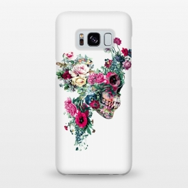Galaxy S8+  Skull VII by Riza Peker (skull,flowers,baroque,surreal,art,rizapeker)