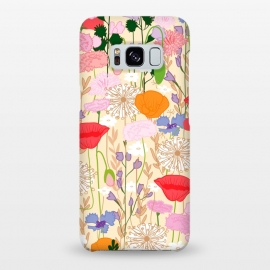 Galaxy S8+  Wildflowers Cream Square by Zoe Charlotte ()