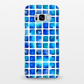 Galaxy S8+ SlimFit Deep Sea by Amaya Brydon (blue,ocean,sea,squares)