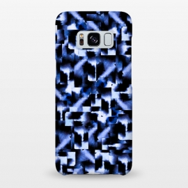 Galaxy S8+  Shattered Nights by Amaya Brydon (blue,geometric,squares,watercolor)