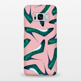 Galaxy S8+  Green With Envy Pink by Amaya Brydon (shoes,stiletto,pink,fashion,runway)