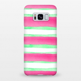 Galaxy S8+  Peppermint Candy by Amaya Brydon (peppermint,stripes,green,pink,summer)