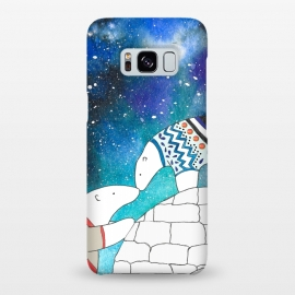 Galaxy S8+  Love Under The Stars by Amaya Brydon (polarbear,bear,love,sky,north,igloo,winter)