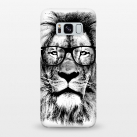 Galaxy S8+  The King Lion of The Library by Mitxel Gonzalez (lion,hipster,glasses,funny,animal,roar,cool,leon)