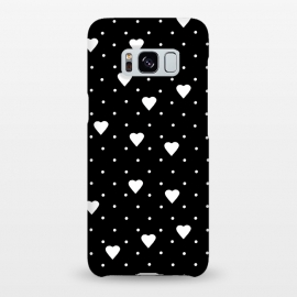 Galaxy S8+  Pin Point Hearts White by Project M ()