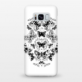 Galaxy S8+  Ink butterfly by Laura Grant (butterfly,floral,pattern,pretty,black and white)