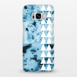 Galaxy S8+  Marble triangles by Laura Grant