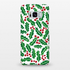 Galaxy S8+  Jolly Holly Red and Green by Kimrhi Studios ()