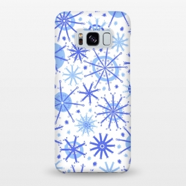 Galaxy S8+  Snowflake Twinkle Blue by Kimrhi Studios