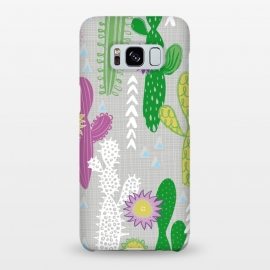 Galaxy S8+  Neutral Cakti by Kimrhi Studios (Cactus,cacti,succulent,geometric)