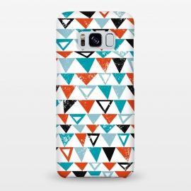 Galaxy S8+  Buddy by Kimrhi Studios (triangle, modern,texture,geo, turqoise,teal)