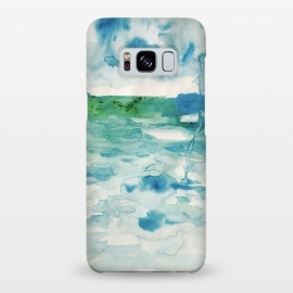 Galaxy S8+  Miami Beach Watercolor #6 by ANoelleJay (blue,clouds,rain,sky,ocean,beach,miami beach,miami,vacation,travel)