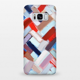 Galaxy S8+  Colorful Chevron by Ann Marie Coolick (abstract painting,modern,colorful,chevron,red,purple,neutral,pop art)