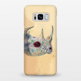 Galaxy S8+  Day of the Dead Rhino by Brandon Keehner