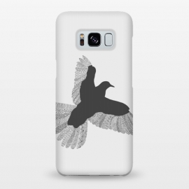 Galaxy S8+  Bird Grey Poster Grey by Florent Bodart
