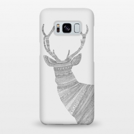 Galaxy S8+  Stag Grey Poster grey by Florent Bodart