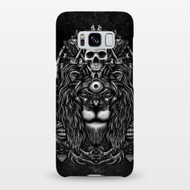 Galaxy S8+  Winya 44 by Winya (lion,king,animal,leo,forest,guardian,big tiger,spirit,lion hearted,god,lion face,popular,best seller,awesome,death,dead,line work,baroque,art line,tattoo design,tattoo,skull,horror,pop culture,nature,dark,great,epic,halloween,indian,bone,canine,feather,amulets,charm,arrow,tongue,shaman,sorcerer,ghos)
