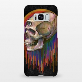 Galaxy S8+  Winya 45 by Winya (skull,skeleton,color full,guardian,spirit,god,popular,best seller,awesome,death,dead,line work,baroque,art line,tattoo design,tattoo,horror,pop culture,nature,halloween,dark,great,bone,feather,amulets,charm,arrow,tongue,shaman,sorcerer,ghost doctor,black magic,voodoo,exorcist,evil,third eyes,death m)