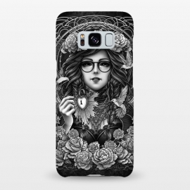 Galaxy S8+  Winya 84 by Winya (chicano,neo traditional,tattoo style,black and white,tattoo,surreal,witch,magic,occult,culture,art line,line work,death metal,death,baroque,victorian,streem punk,gothic,pop culture,dark,sacred geometry,fantasy,mystical,sacred,creepy,fairy,angel,myth,queen,roses,hummingbird,bird,animal,key,heart,glas)