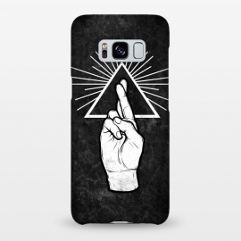 Galaxy S8+  Winya 87 by Winya (hand,finger,finger cross,cross,fingers crossed,triangle of light,triangle,nerd,pop culture,hipster,holy light,good luck,lucky)