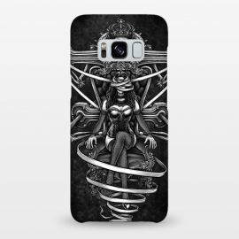 Galaxy S8+  Winya 95 by Winya (skull,reaper,lady,sexy,death,bdsm,vintage,old style,old school,baroque,victorian,streem punk,gothic,pop culture,dark,sacred geometry,fantasy,mystical,sacred,creepy,demon,evil,devil,cross,holy cross,obelus,chicano,neo traditional,tattoo style,bones,skeleton,black and white,tattoo,surreal,witch,magic,)