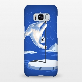Galaxy S8+ SlimFit North Pole Dancer by Jay Maninang (northpole,pole dancing,polar bear,pole dancer,poledancing,ice,animal,white,cool)