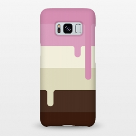 Galaxy S8+  Neapolitan Ice Cream by Dellán (Ice cream, neapolitan,summer,spring,cold,gender neutral,gourmet,fresh,ice pop)