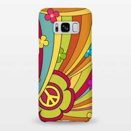 Galaxy S8+  Peace (1960's Fancy) by Dellán (vintage,retro,60's,1960,classic,old fashioned,hobby,gender neutraL,PEACE AND LOVE,rock and roll,Psychedelia,flowers,colorful,music,good vibes)