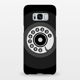 Galaxy S8+  Vintage Black Phone by Dellán (smartphone,phone,retro,vintage,classic,old fashioned,black,geek,hipster,collectable,80's,70's,60´s,50´s,old,antique,telephone)