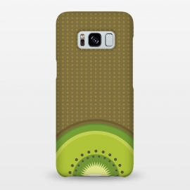 Galaxy S8+  Kiwi Pop by Dellán (fruit,food,gourmet,citric,pattern,kiwi,minimalism,tropical,beach,fresh,summer,spring,party)