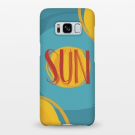 Galaxy S8+  Hot Sun on Blue Sky by Dellán (sun,summer,spring,hot,beach,sea,party,warm,fresh,typographic,text,hipster,trendy,cheerful,colorful,good vibes,paint,oil paint,brush,paint brush,art,artistic)