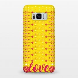 Galaxy S8+  Cat Lovers by Karim Luengo (cat ,vector,pattern,love)