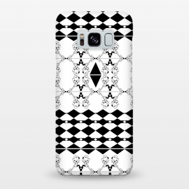 Galaxy S8+  Black and White by Karim Luengo (vector,pattern,illustration,geometric,black,white)