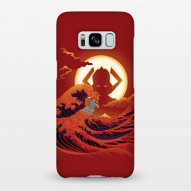 Galaxy S8+  Surfing with the Alien by Samiel Art (samiel,samielart,silver surfer,galactus,comic,comics,hokusai,great wave,kanagawa,japan art,surf,landscape)