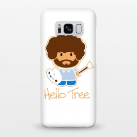 Galaxy S8+  hello tree by Manos Papatheodorou (art, bob ross, hello tree, hello kitty, funny,parody,happy little trees)