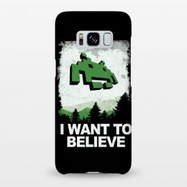 Galaxy S8+  I WANT TO BELIEVE by SKULLPY (SKULLPY,XFILES,MOVIES, FILMS, TV, TV SHOWS,SPACE INVADERS,80'S,90'S,80S,90S,EIGHTIES, NINETIES,MULDER, SCULLY,PIXEL, PIXELART, RETROGAMING,INVADERS,I WANT TO BELIEVE,X FILES,SPRITES,NAMCO)