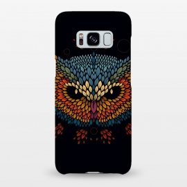 Galaxy S8+ SlimFit Owl Face by Q-Artwork (vector,animal,owl,leaves,leaf,pattern,nature,bird,geometric)
