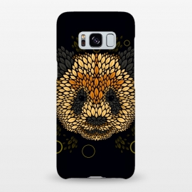 Galaxy S8+  Panda face by Q-Artwork (panda,animal,leaves,leaf,pattern,nature,vector,geometric)