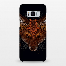 Galaxy S8+  Fox Face by Q-Artwork (fox,animal,nature,leaves,leaf,pattern,vector,geometric)