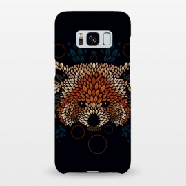 Galaxy S8+  Red Panda Face by Q-Artwork (red panda,nature,panda,cute,vector,pattern,leaves,leaf,geometric)