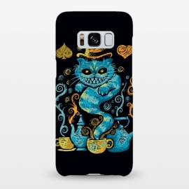 Galaxy S8+  Wonderland Impressions by Q-Artwork (alice in wonderland,cheshire cat,literature,lewis carrol,classic,tea,cat,animal,art,impressionism,painting,mad hatter)