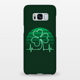 Galaxy S8+  IRISH-HEART by RAIDHO (IRISH,ST.PATRICK'S-DAY,CLOVER,HEART,cardiogramm)