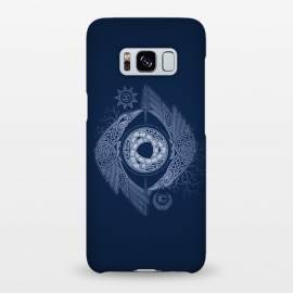 Galaxy S8+  ODIN'S EYE by RAIDHO (ODIN,odin's eye,vikings,spear,ravens,hugin and munin,knotwork,nordic mythology,sun and moon,runes,futhark,night,mystery)