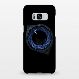 Galaxy S8+  MOONLIGHT ROUNDELAY ( Raven's Eye ) by RAIDHO (RAVENS,raven's eye,knotwork,moon,moonlight,stars,night,mystery)